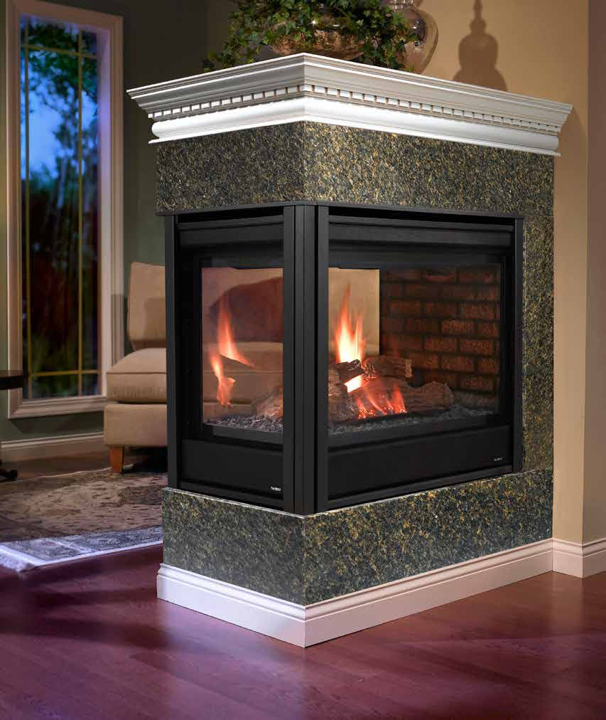 Sided gas fireplace indoor four sided gas places four for Four sided fireplace