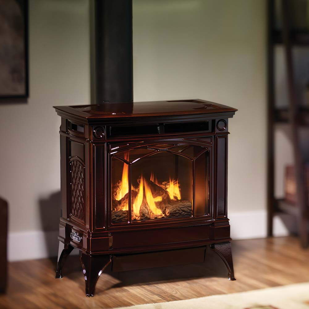 hampton h35 large cast iron gas stove american heritage fireplace. Black Bedroom Furniture Sets. Home Design Ideas