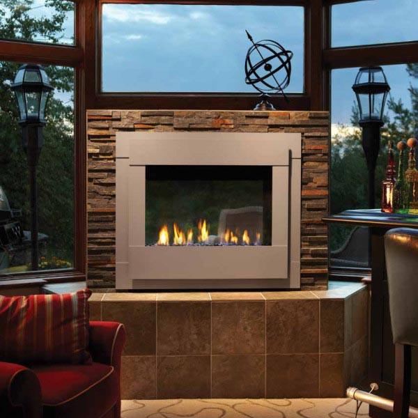 Twilight Modern Indoor Outdoor Gas Fireplace American