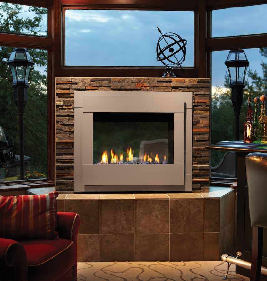 Twilight Modern Indoor Outdoor Gas Fireplace American Heritage Fireplace