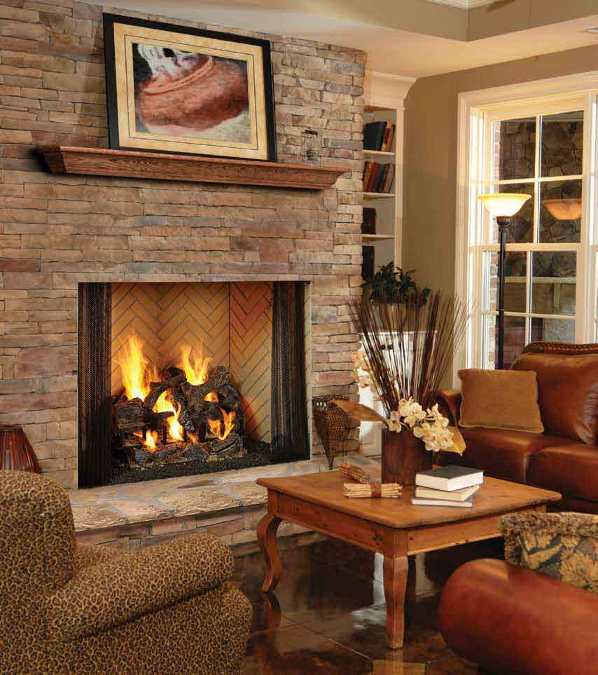 Birmingham Masonry Style Wood Burning Fireplace American