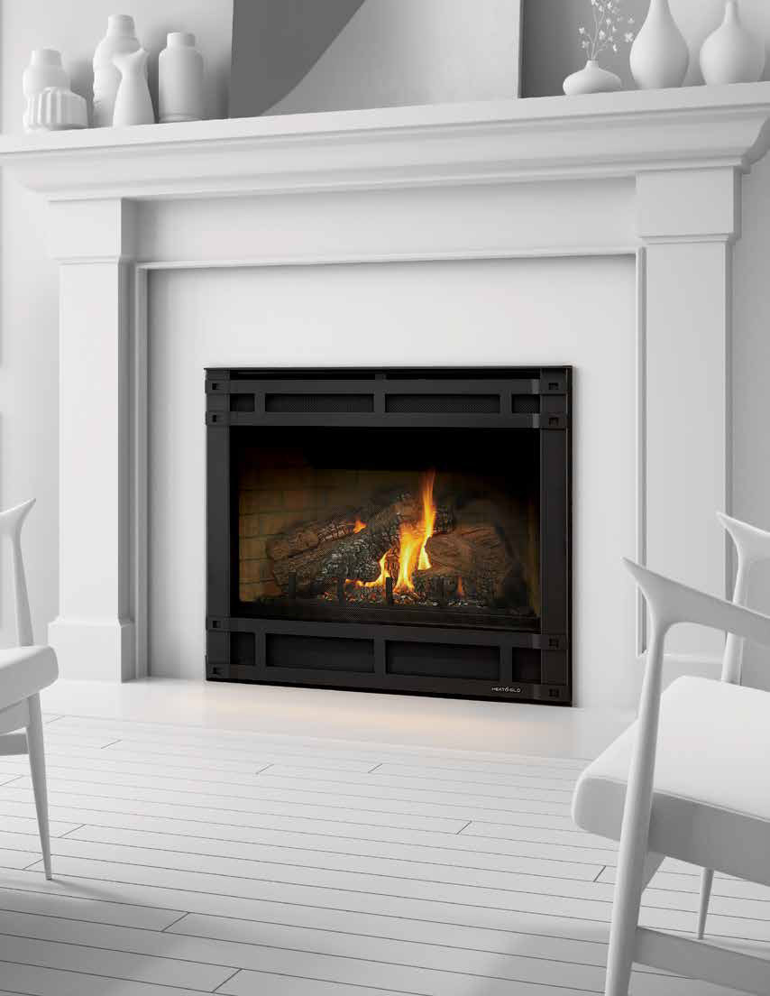 Slimline Direct Vent Gas Fireplace American Heritage