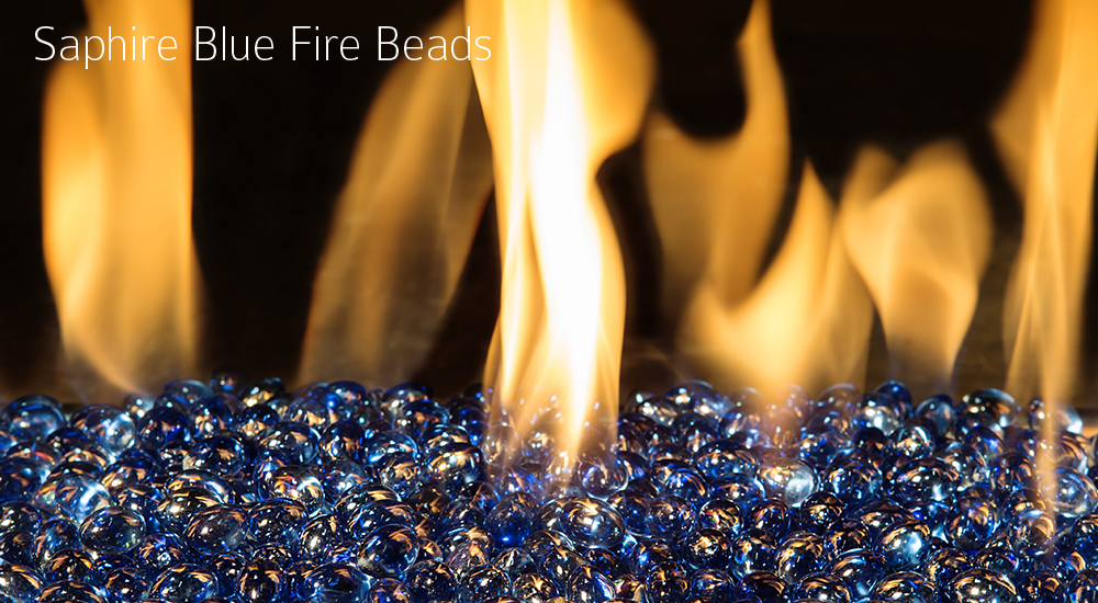 Saphire Blue Fire Beads